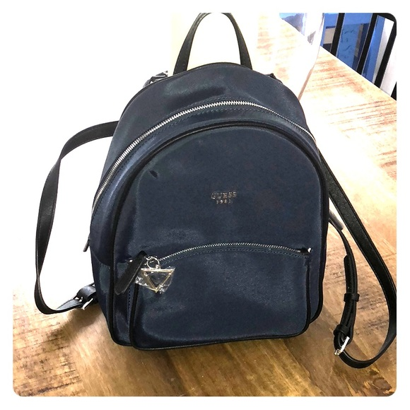 a48b59f6a287 Guess Navy Blue Backpack Purse NWT